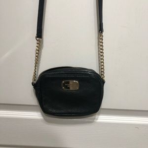 Michael Kors black and gold cross body bag
